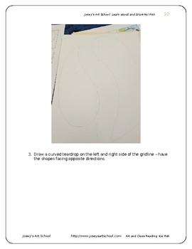 Koi Fish Art Drawing Lesson and ELA Literacy Circle Reading and Art Lesson