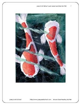 Koi Fish Art Drawing Lesson and ELA Literacy Circle Readin