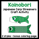 Koinobori - Japanese koi streamers - coloring and crafts