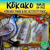Kokako - New Zealand Bird {Make & Do Activity Pack}