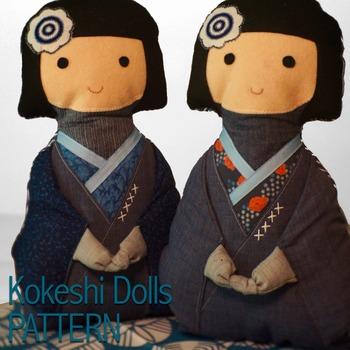 Kokeshi Doll Sewing Pattern