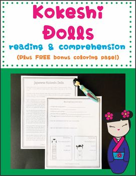 Kokeshi Dolls Reading and Comprehension