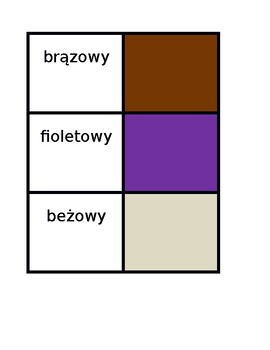 Kolory (Colors in Polish) Concentration games