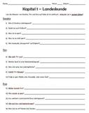 Komm Mit! German Level 2 Chapter 1 Landeskunde worksheet