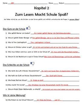Komm Mit! German Level 2 Chapter 2 Zum Lesen worksheet