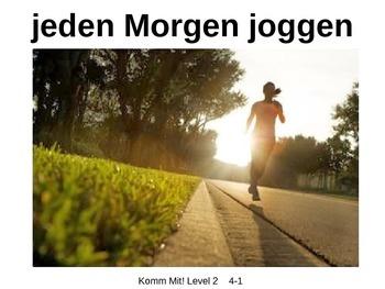 Komm Mit! German Level 2 Chapter 4-1 vocabulary picture presentation