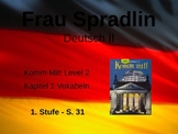 Komm Mit! German Level 2 Chapter 1-1 vocabulary picture presentation