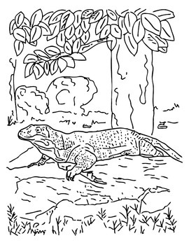 ANiTAiLS:Komodo Dragon Story, Crossword, Coloring Page and More