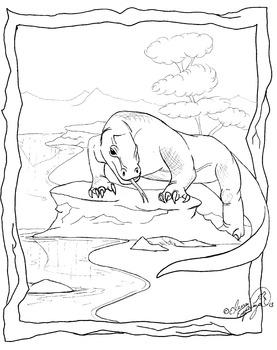 Komodo Dragon coloring sheet