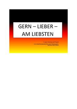 Gern - Lieber - Am liebsten - Gar nicht (DAF Deutsch)