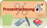 Komplette Unterrichtssequenz - Prozentrechnung - Klasse 7 (deutsch)