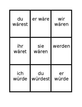 Konjunktiv II (Subjunctive in German) Spoons game / Uno game