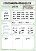 Konsonantforbindelser: Øvingsark med gr-ord