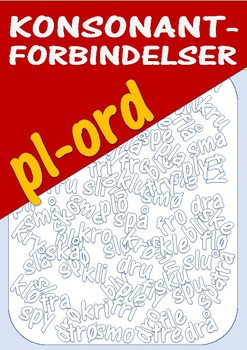 Konsonantforbindelser: Øvingsark med pl-ord.