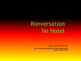 Konversationstraining: Im Hotel