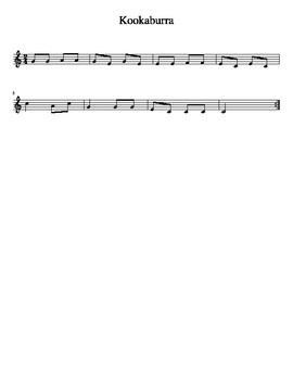 Kookaburra- a ROUND for Recorders (C Major Scale in 2/4 Time)
