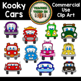 Kooky Cars Clip Art Collection-Commercial Use Graphics