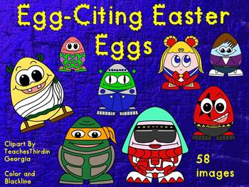 Kooky Easter Egg People-Clip Art Collection-Commercial Use