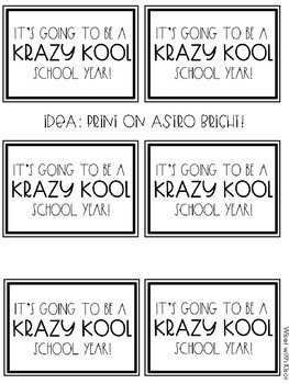Kool-Aid Back to School Student Gift Labels