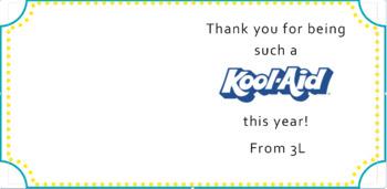 Kool-Aid Gift Label