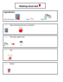 Kool Aid Visual Recipe