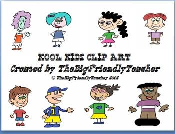 Kool Kids Clip Art