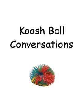 Koosh Ball Conversation Book