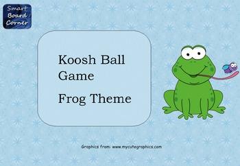 Koosh Ball Game Template Smart Board Lesson Frog Theme
