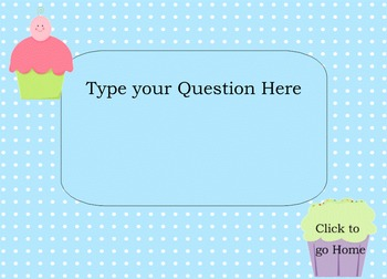 Koosh Ball Game Template Smart Board Lesson Cupcake Theme