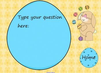 Koosh Ball Game Template SMART Board Lesson Easter Theme
