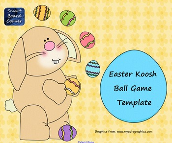 Koosh Ball Game Template SMART Board Lesson Easter Theme