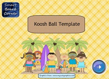 Koosh Ball Game Template Summer Theme SMART Board Lesson