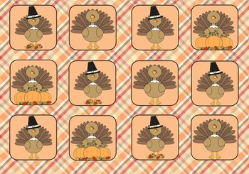Thanksgiving Koosh Ball Game Template for SMART Board