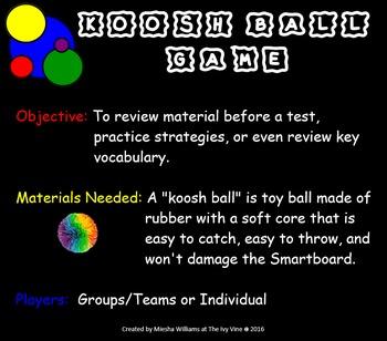 Koosh Ball Math Vocabulary - Grade 4 - CCSS