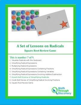 Koosh Ball Review of Simplifying Radicals
