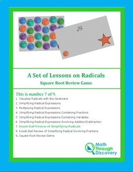 Koosh Ball Review of Simplifying Radicals