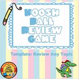Koosh Ball SMARTboard Review Game Editable Template