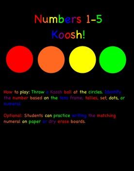 Koosh! Numbers 1-5