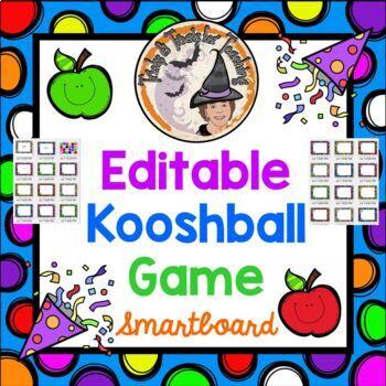 Kooshball Game Fully Editable Blank Polka Dots Template create FUN Game