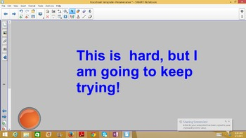 PERSEVERANCE-Kooshball Recycled Thoughts Lesson AND Smartboard Game