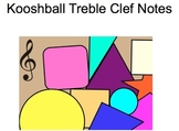 Music: Kooshball Treble Clef Notes