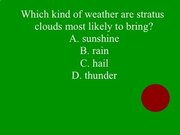 Kooshball Weather and Climate EOG Review