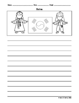 korea essay writing paper worksheet by come learn with me  tpt