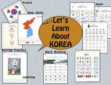 Korea Packet of Fun, Math, Culture, ELA, and Map Skills