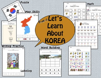 Korea Packet of Fun, Math, Culture, ELA, and Map Skills