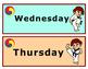 Korean Days of the Week Headers