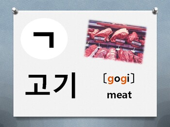 Korean Flash Card(Consonant card)