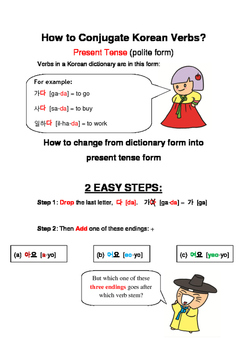 Korean Verbs Conjugation Guide: Present Tense