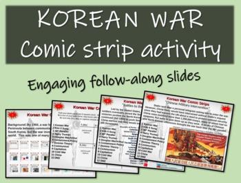 Korean War Comic Strip Activity - Fun, organized, engaging 24-slide PPT