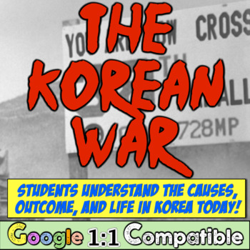 Korean War: Guided Notes for Korean War, 38th Parallel, Domino Theory, Cold War!
